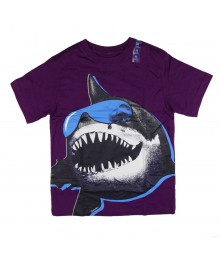 Childrens Place Purple Shark Print Boys Tee
