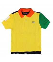 Chaps Yellow Block Polo Boys