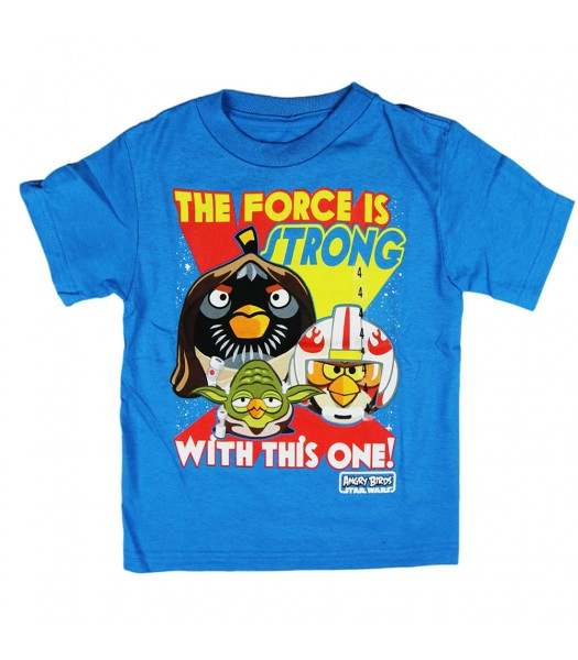 """Angry Birds Turq """"The Force"""" Boys Tee"""