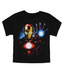"Marvel Avengers Black ""Iron Man"" Boys Tee"