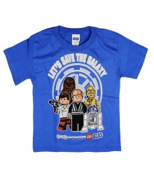 "Lego Star Wars Blue ""Save The Galaxy"" Boys Tee"