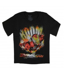 "Marvel Iron Man Black ""Boom"" Boys Tee"