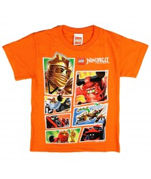 Lego Ninjago Orange Panel Boys Tee