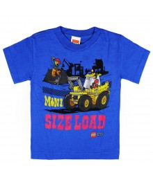 "Lego City Blue ""Size Load"" Boys Tee Little Boy"