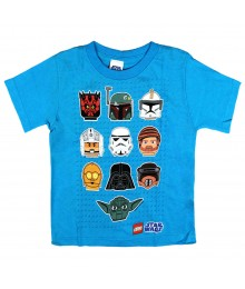 Lego Star Wars Turq Boys Tee