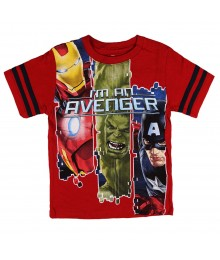"Marvel Avengers Red ""Im An Avenger"" Boys Tee"