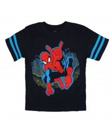 Marvel Spiderman Navy Boys Tee