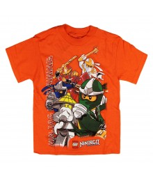 "Lego Ninjago Orange ""Ninjas In Training Boys Tee Little Boy"