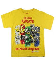 "Lego Ninjago Yellow ""We Know Karate"" Boys Tee"