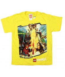 "Lego Ninjago  Yellow ""Golden Nija"" Boys Tee"