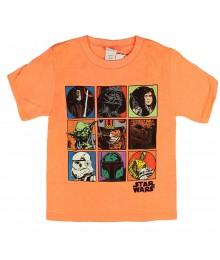 "Star Wars Neon Orange ""Revolving Squares"" Boys Tee"