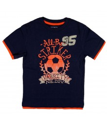 "Oshkosh Bgosh Navy ""All- Pro Striker"" Boys Tee"