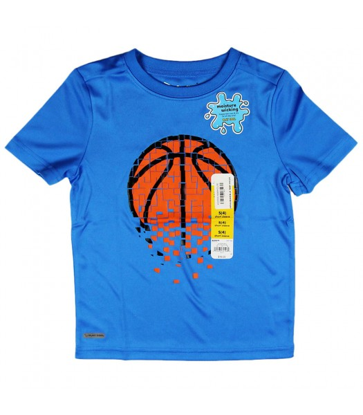 "Jumping Beans Blue ""Basketball Performance"" Boys Tee"