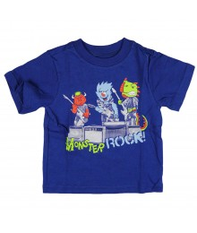 Childrens Place Blue Monster Rock Graphic Tee
