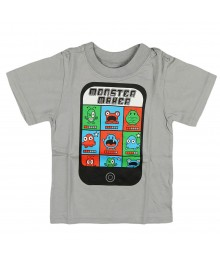Childrens Place Grey Boys Tee - Monster Maker""