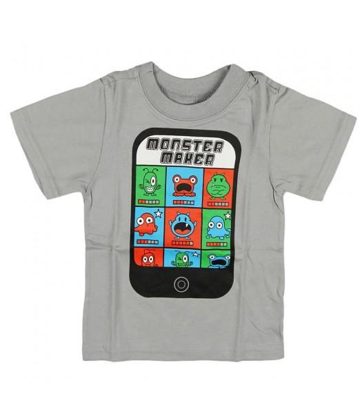 "Childrens Place Grey Boys Tee - Monster Maker"""