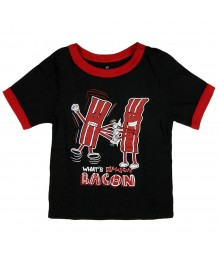 Childrens Place Black Bacom Graphic Boys Tee