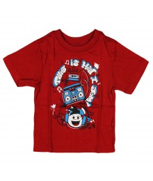 "Childrens Place Red ""Jammin"" Graphic Boys Tee"