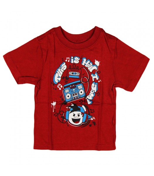 """Childrens Place Red """"Jammin"""" Graphic Boys Tee"""