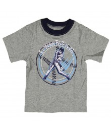 "Childrens Place Grey ""Baseball"" Graphic Boys Tee"
