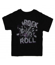 Childrens Place Black Graphic Boys Tee