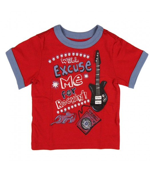 "Childrens Place Red ""Excuse Me"" Graphic Tee"