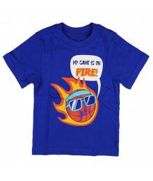 "Childrens Place Blue ""Fire Ball"" Graphic Tee"