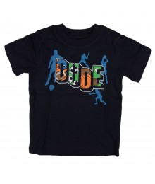 "Childrens Place Black ""Sports Dude"" Graphic Tee"