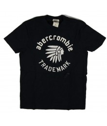 Abercrombie Black Boys Tee - Indian Hat Embrry