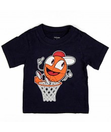 "Childrens Place Navy""Basketball Face"" Graphic Tee"