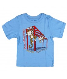 Childrens Place Sky Blue Graphic Tee