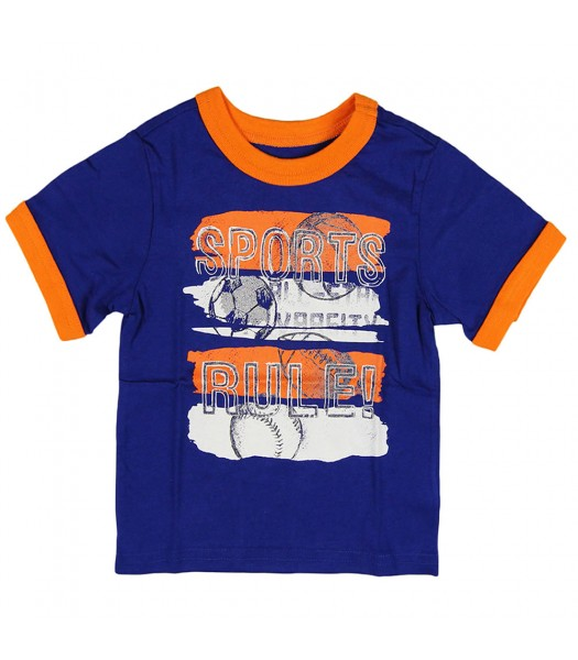 """Childrens Place Blue""""Sporty"""" Graphic Tee"""