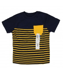 Okie Dokie Navy with Yellow Stripe Boys