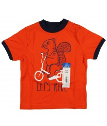 "Okie Dokie Orange ""Lets Ride"" Boys Tee"