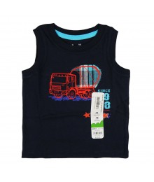 "Jumping Beans Navy ""Truck"" Boys Tee Baby Boy"