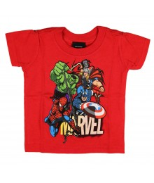 "Marvel Red ""Superheroes"" Tee"