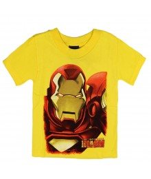 "Marvel Yellow ""Iron Man"" Boys Tee"