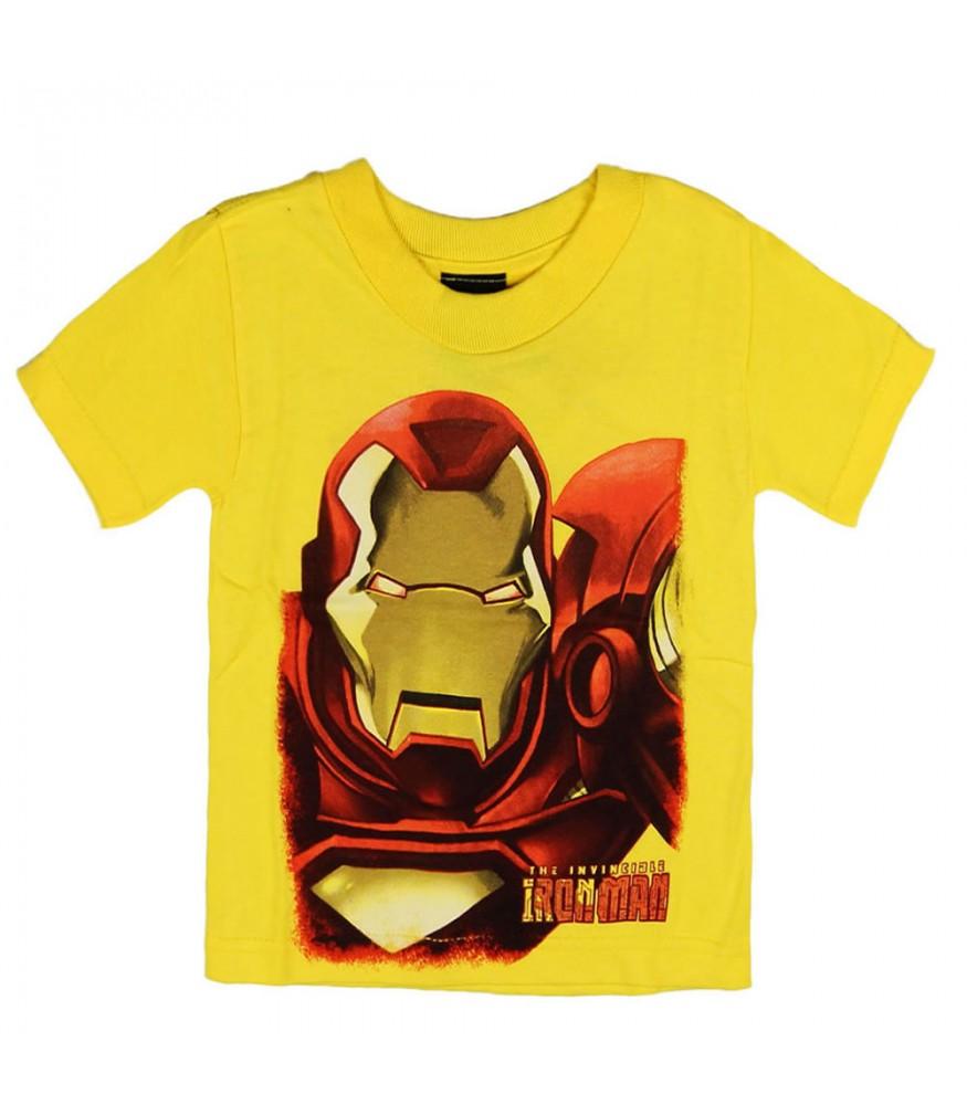 Marvel Yellow Iron Man Boys Tee Ironman Red Tees