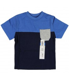 Okie Dokie Blue/Navy/Grey Color Block Boys Tees