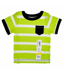Jumping Beans Lemon N White Stripped Boys Tees