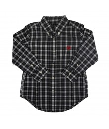 Chaps Dark Green Plaid Long Sleeve Shirt