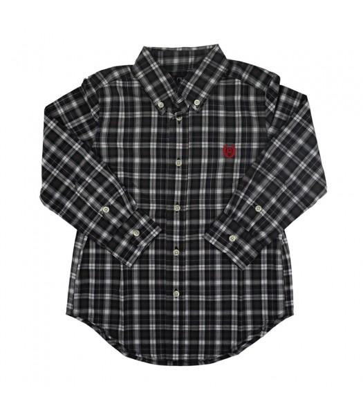 Chaps Dark Green Plaid Long Sleeve Shirt