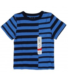 Jumping Beans Blue/Black Stripped Boys Tees