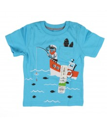 Jumping Beans Turq Boys Pocket Tee