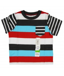 Jumping Beans Turq/Red/Brwn Stripped Tee