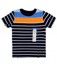 Okie Dokie Navy Stripped with Orange  and Blue Boys Tees