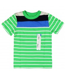 Okie Dokie Green Stripped Boys Tees