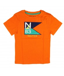 Nautica Orange N83 Flag Boys Tee