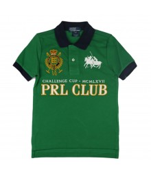 "Ralph Lauren Green  ""Prl Club"" Boys Polo"