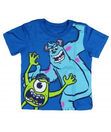 Disney Pixar  Blue Monster University  Mike & Sulley Tee Little Boy